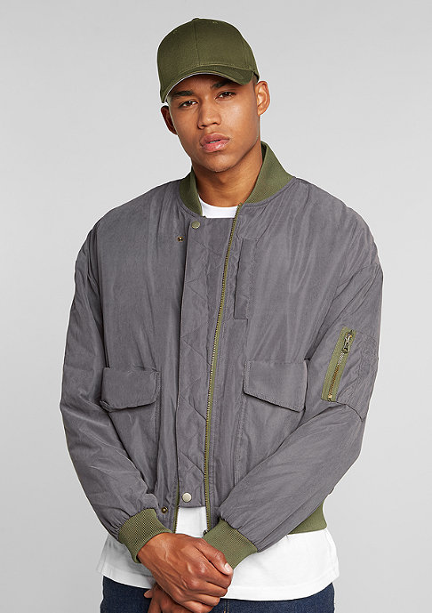 Future Past Oversized Bomber dark grey