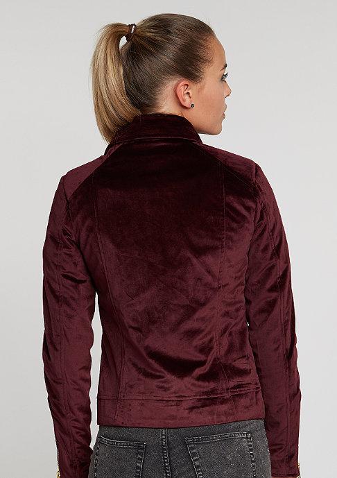Flatbush Jacke Velvet Bikerjacket bordeaux