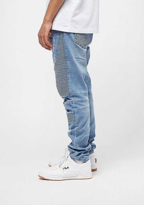 Cayler & Sons C&S Biker Denim Pants distressed light blue