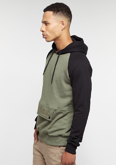 Criminal Damage Hooded-Sweatshirt Richter olive/black