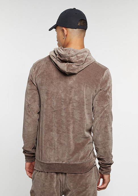 Criminal Damage Hooded-Sweatshirt Velour mushroom
