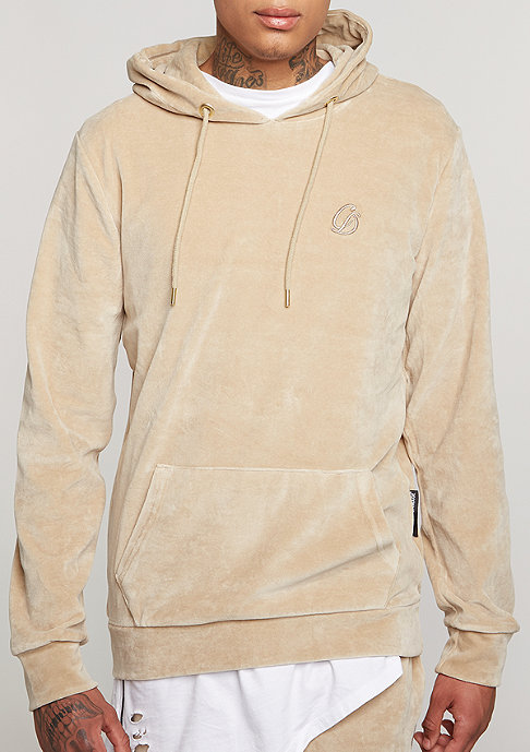 Criminal Damage Hooded-Sweatshirt Velour nude