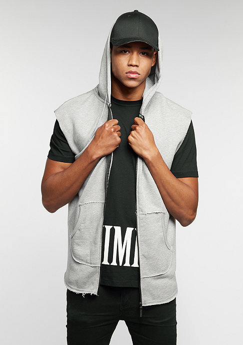 Criminal Damage Hooded-Zipper Slate grey/black