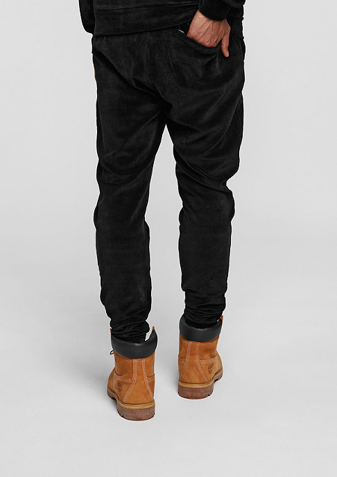 Criminal Damage Trainingshose Velour black/gold