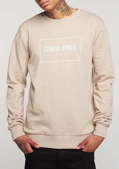 Criminal Damage CD Sweater October nude/white