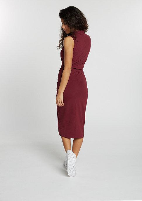 Urban Classics Kleid Stretch Jersey Turtleneck burgundy