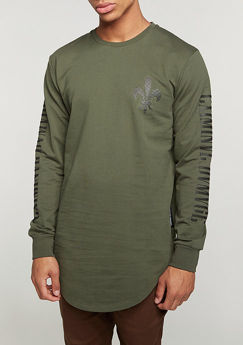Criminal Damage Longsleeve Sev olive/white