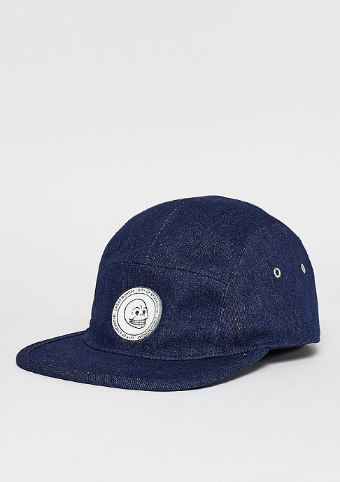 Cheap Monday 5 panel CM badge rinsed blue