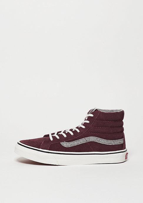 VANS Skateschuh SK8-Hi Slim Vintage Suede red mahogany