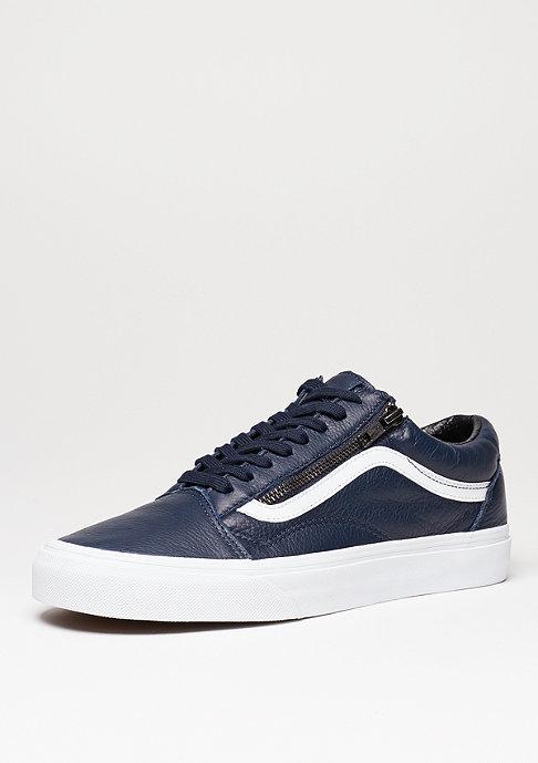 VANS Skateschuh Old Skool Zip Antique Leather dress blue/true white