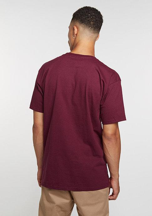 Etnies T-Shirt Mod Stencil burgundy