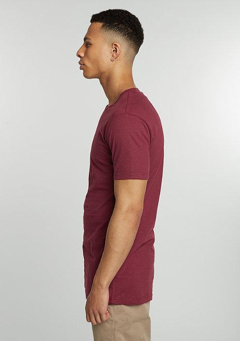 Urban Classics T-Shirt Peached Shape Long burgundy