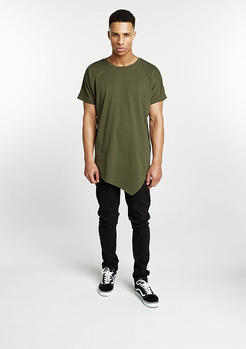 Urban Classics T-Shirt Asymetric Long olive