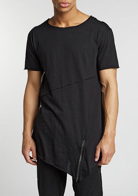 Urban Classics T-Shirt Long Open Front Zip black