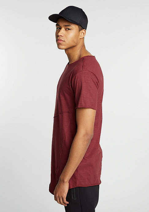 Urban Classics Long Open Front Zip burgundy
