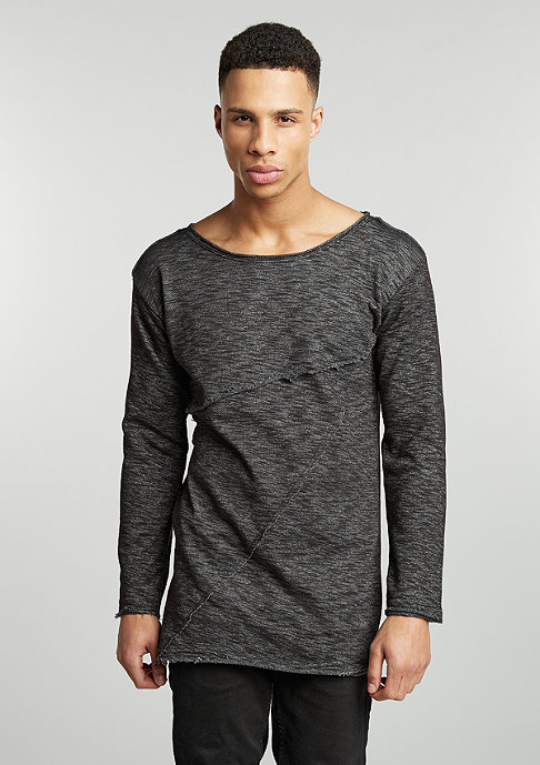 Urban Classics Sweatshirts Fashion Long Terry black melange