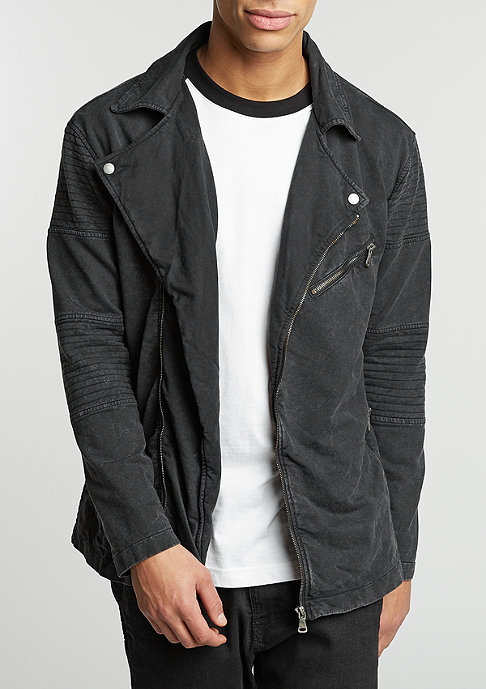 Urban Classics Acid Wash Terry Biker black melange