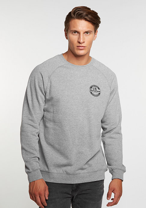 Brixton Soto Crew FLeece heather grey/black