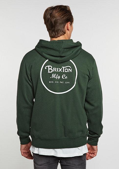Brixton Hooded-Zipper Wheeler Fleece forest green