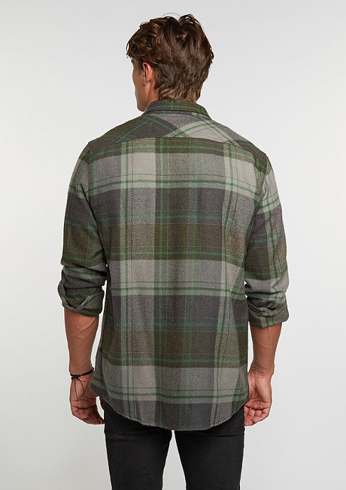 Brixton Bowery Flannel forest green