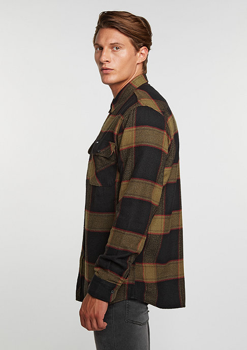Brixton Bowery Flannel black/gold