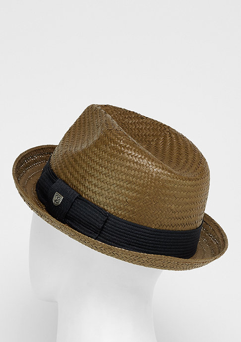 Brixton Hut Castor Fedora light brown