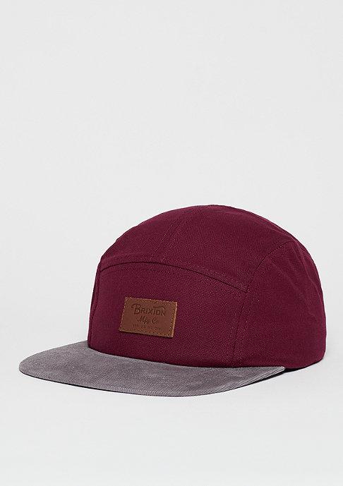 Brixton 5-Panel-Cap Grade burgundy/grey