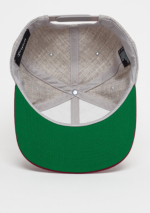 Brixton Snapback-Cap Oath ||| light heather grey/burgundy