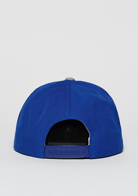 Brixton Snapback-Cap Rift royal/heather grey