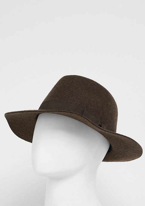 Brixton Hut Indiana Fedora heather brown