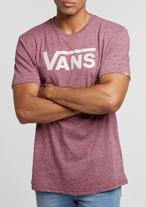 VANS T-Shirt Classic Heather burgundy/marshmallow