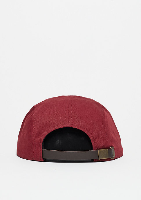 Brixton Hoover 5 Panel burgundy/light heather grey