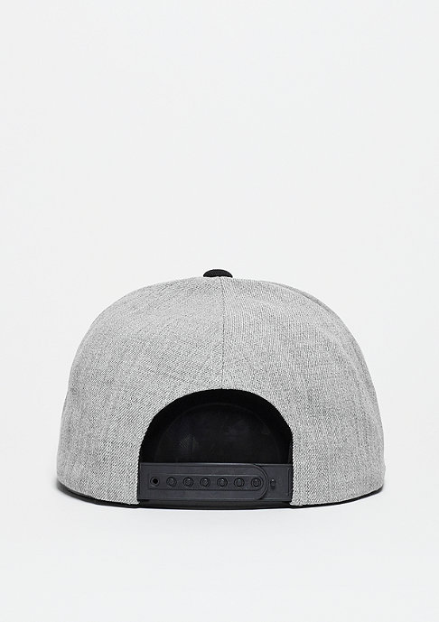 Brixton Snapback-Cap Rift light heather grey/black