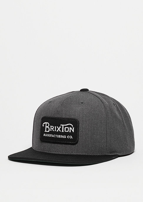 Brixton Snapback-Cap Grade charcoal heather/black
