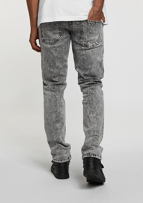 Rocawear Jeans Denim Pant dark grey wash destroyed