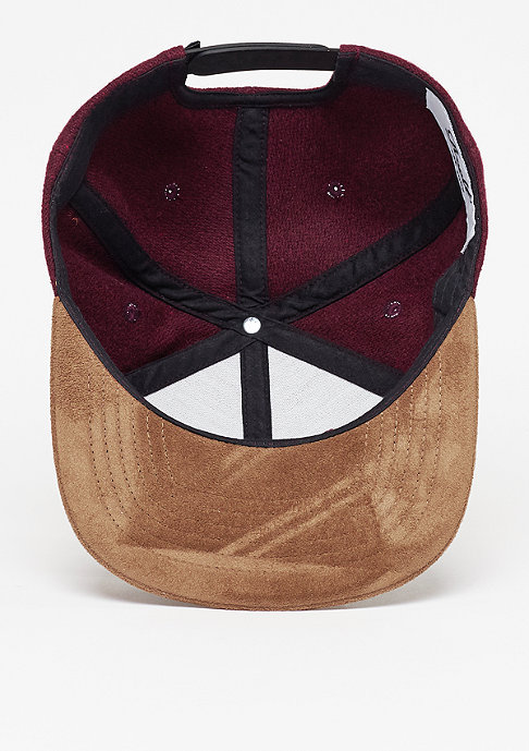 Reell Snapback-Cap Suede 6-Panel burgundy wool