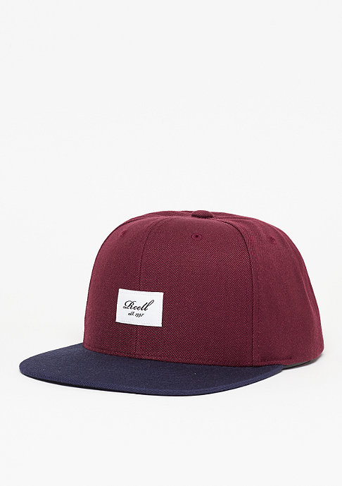 Reell Snapback-Cap Pitchout 6-Panel burgundy/navy