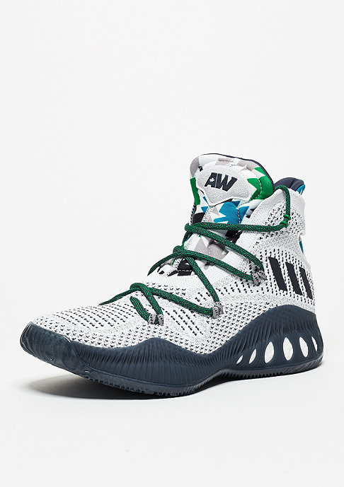 adidas Basketballschuh Crazylight Explosive Primeknit white/collegiate navy/grey