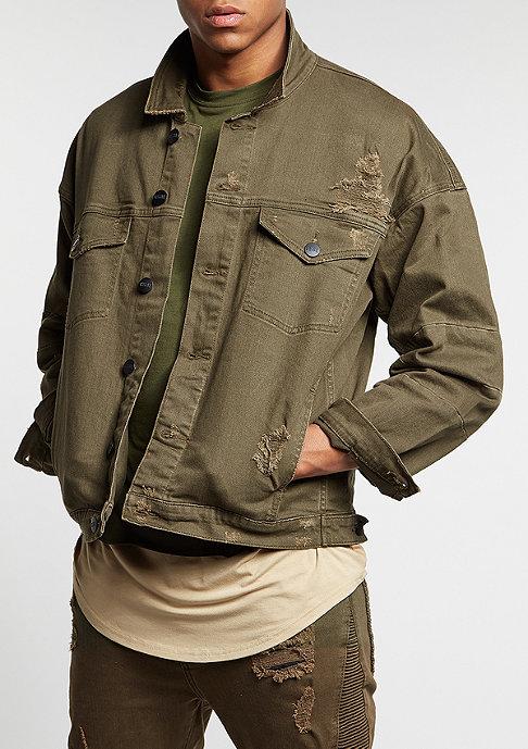 Cayler & Sons C&S Jacket Drop Shoulder Denim olive
