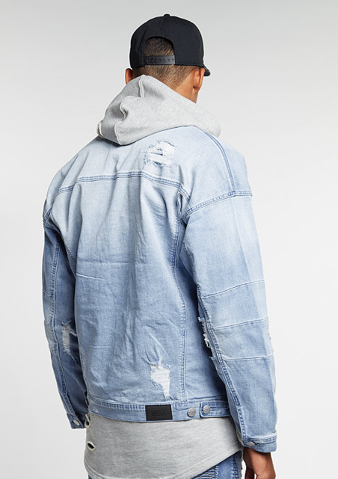 Cayler & Sons C&S Jacket Drop Shoulder Denim washed blue