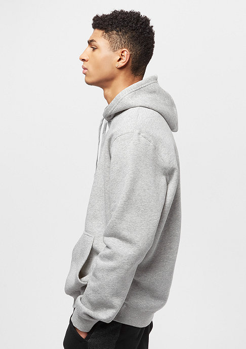 NIKE Hoodie PO FLC Club dark grey heather/dark grey heather/white