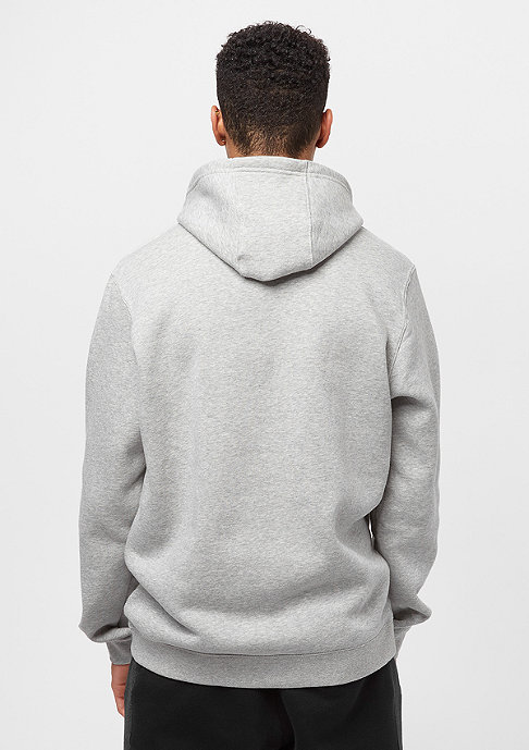 NIKE Hooded-Sweatshirt PO FLC Club dark grey heather/dark grey heather/white
