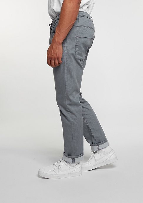 Reell Chino-Hose Jogger Jeans grey knit denim