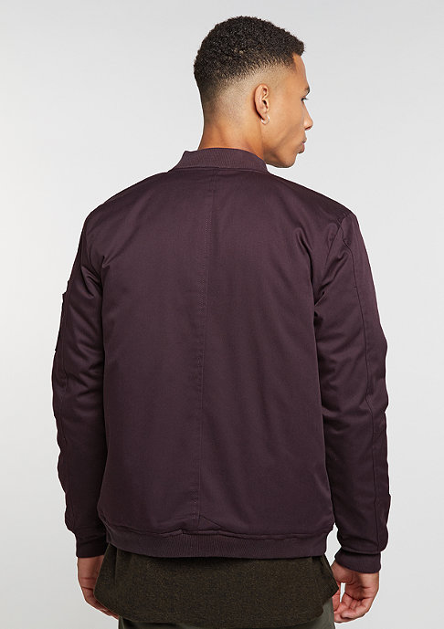 Reell Padded Flight Jacket wine red