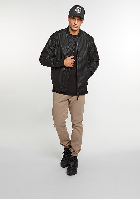 Reell Artificial Leather Bomber washed black