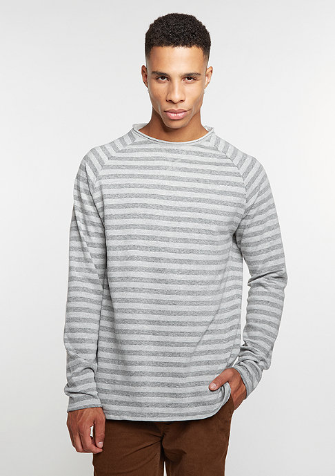 Reell Striped Longsleeve dark grey/light grey