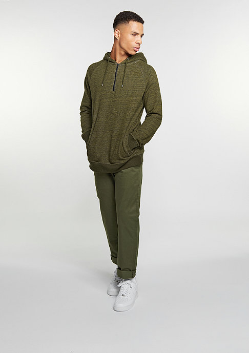Reell Hooded-Sweatshirt Quarter Zip Hoody dark olive melange
