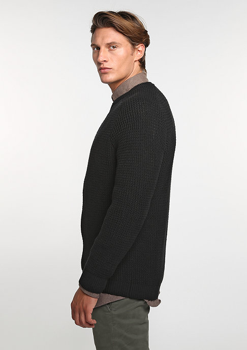 Reell Sweatshirt Knitted Zip black