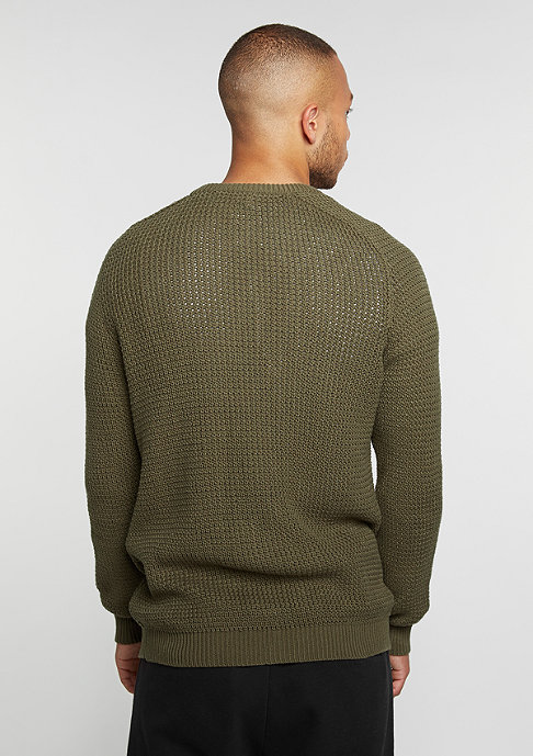 Reell Knitted Zip olive