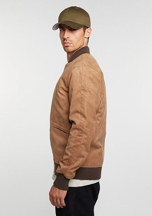 New Era Jack Crafted Suede Letterman new era rust